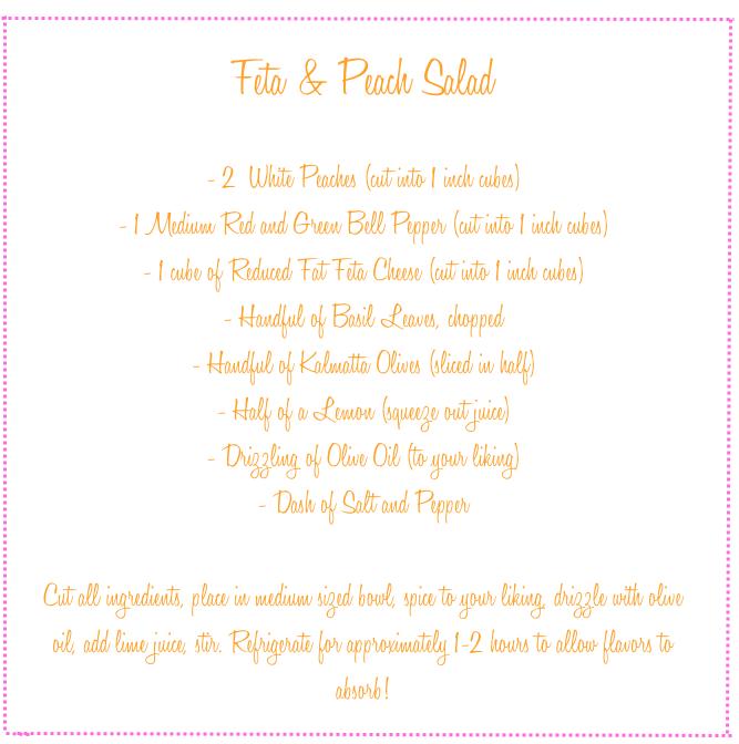 peach and feta