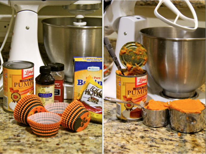 ingredients pumpkin muffins