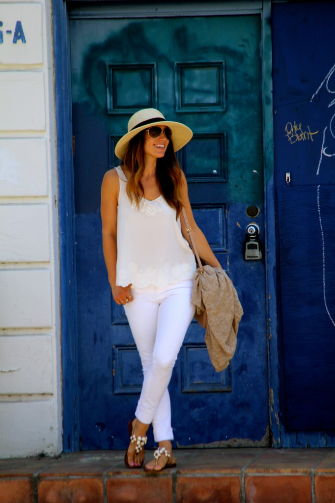 panama hat, all white