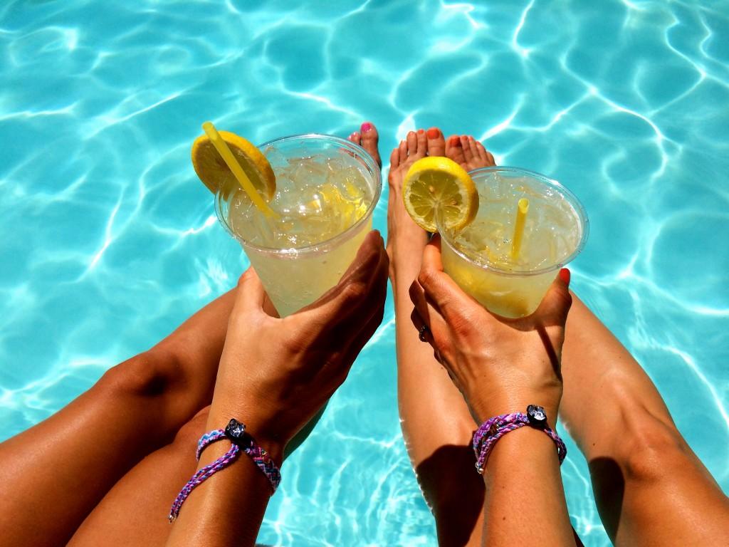 muddled lemonades Parker Hotel Pool