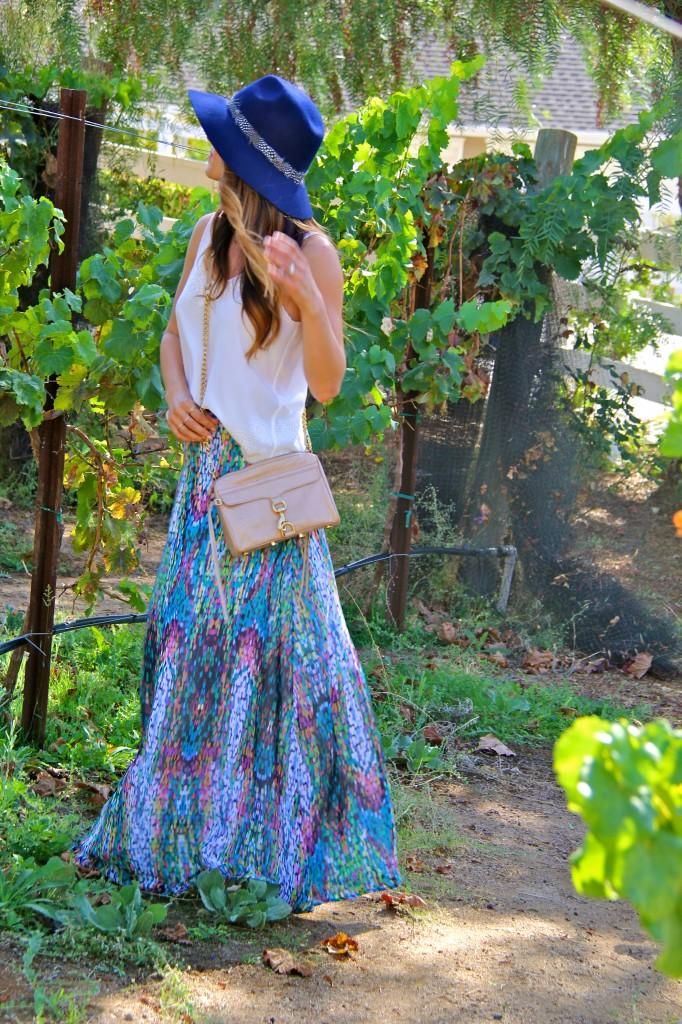 shabbyapple maxi skirt, navy fedora