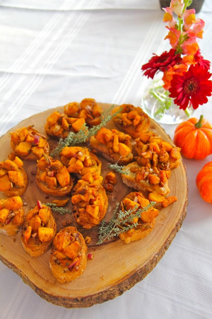 Pumpkin Brushetta