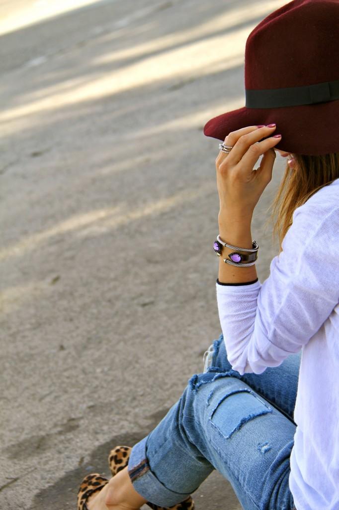 loren hope cuff, distressed jeans