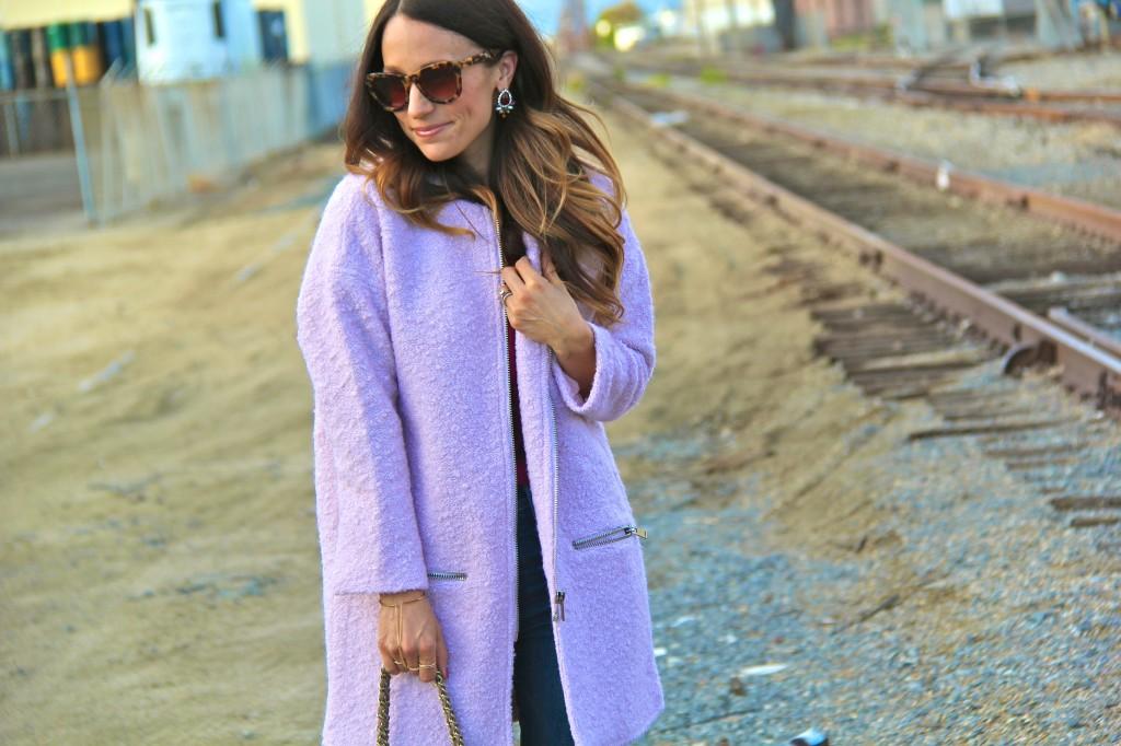 pink cocoon coat