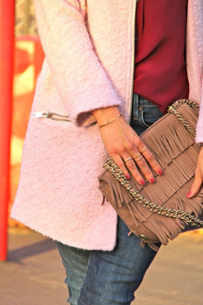 fringe purse, ring to wrist bracelet