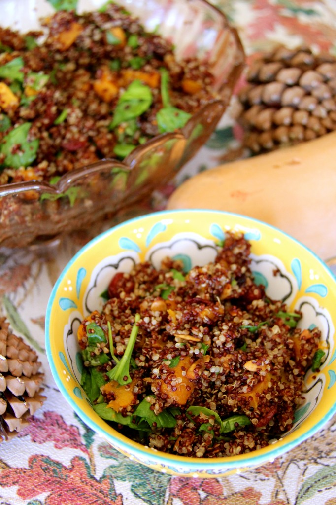 Quina and butternut squash salad