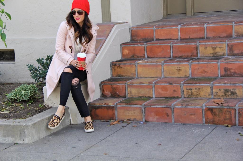 red beanie, leopard shoes, itsybitsyindulgences