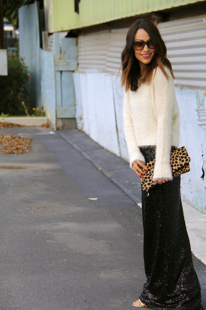 sequin skirt, New Year's Eve