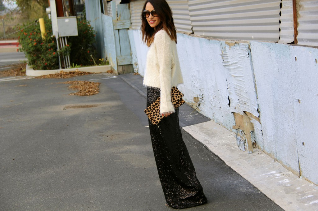 sequin skirt, New Year's Eve attire