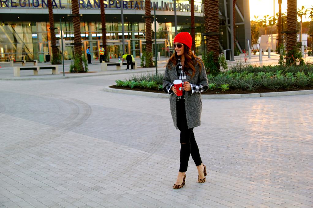 red beanie