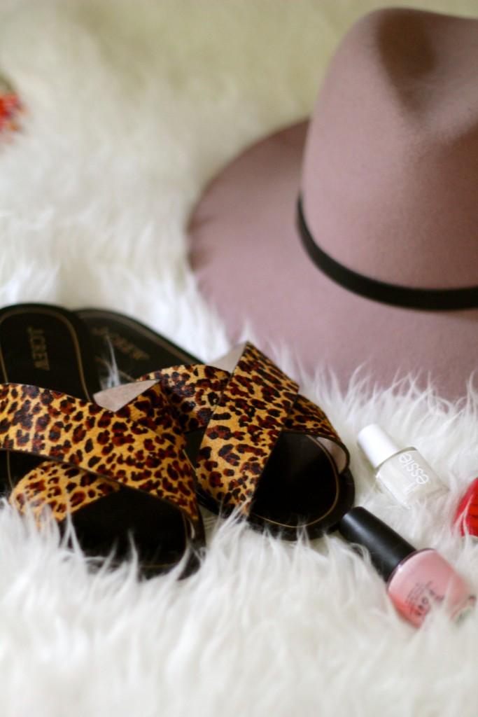 j crew leopard sandals