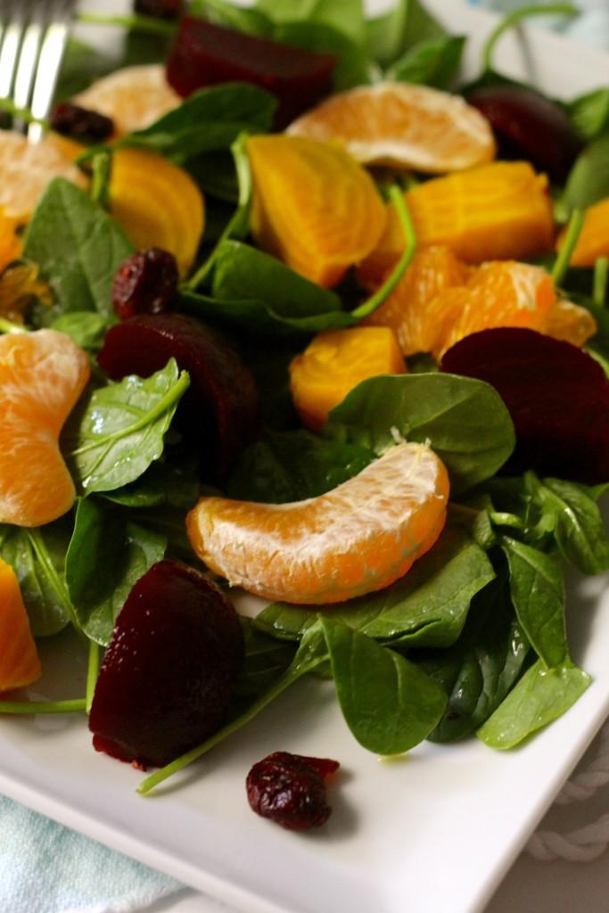 beet and tangerine salad