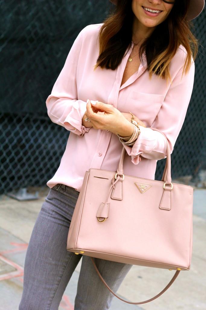 prada pink saffiano purse