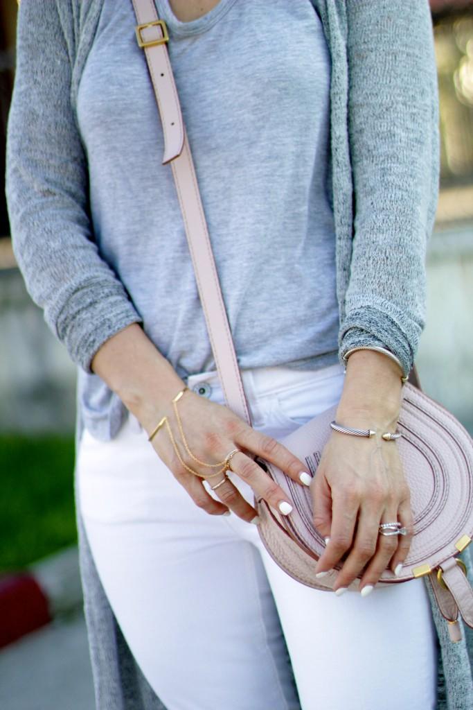 gold dainty jewelry, chloe marcie bag