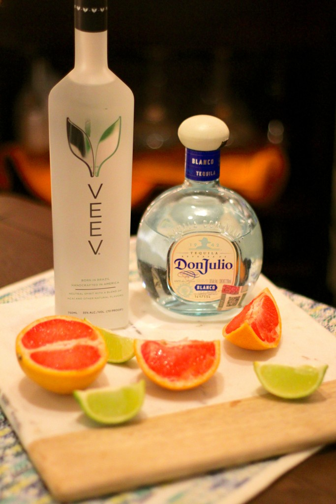 veev cocktails, grapefruit margarita