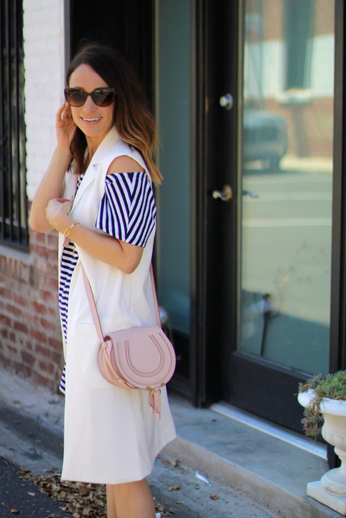 white vest, spring looks, itsy bitsy indulgences