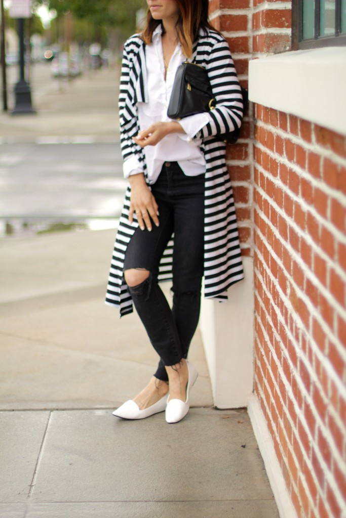 weekend casual, white loafers