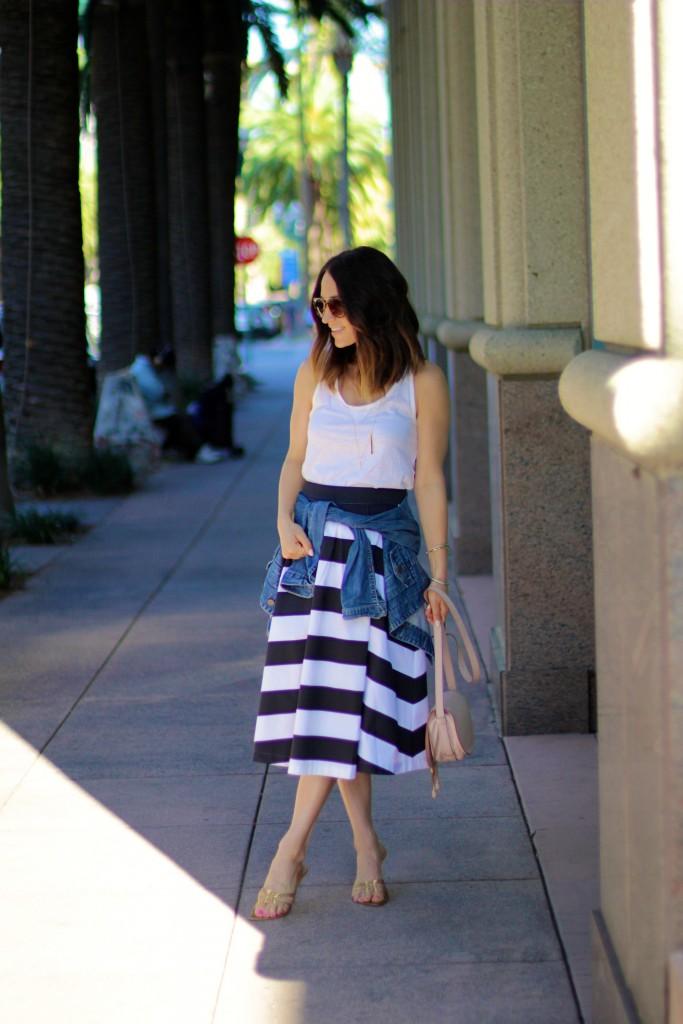 shabby apple stripe black skirt, spring stripes