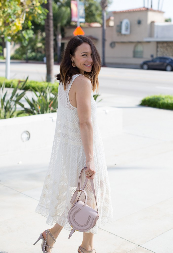 white spring dress, itsy bitsy indulgences