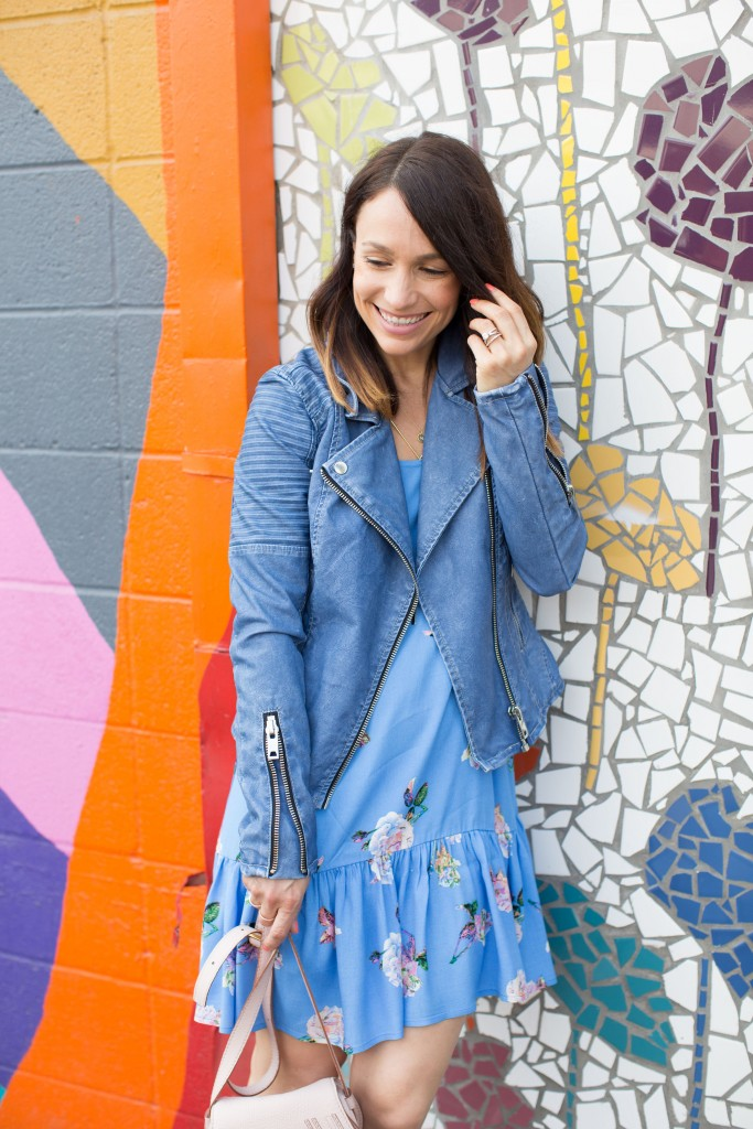 lulus floral dress, shades of blue, spring attire, itsy bitsy indulgences