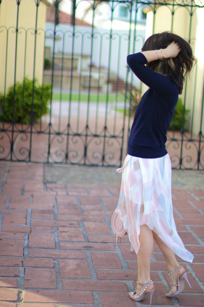 joie watercolor skirt, spring style