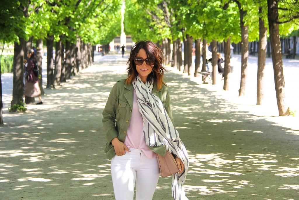 stripe scarf // utility coat // itsy bitsy indulgences
