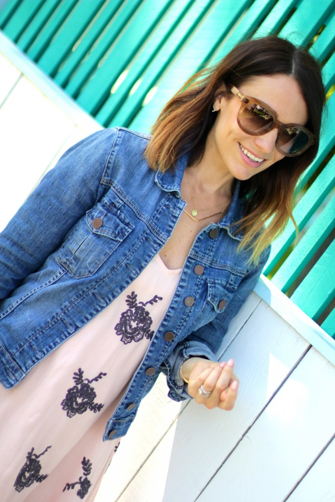denim jacket // ombre // itsy bitsy indulgences