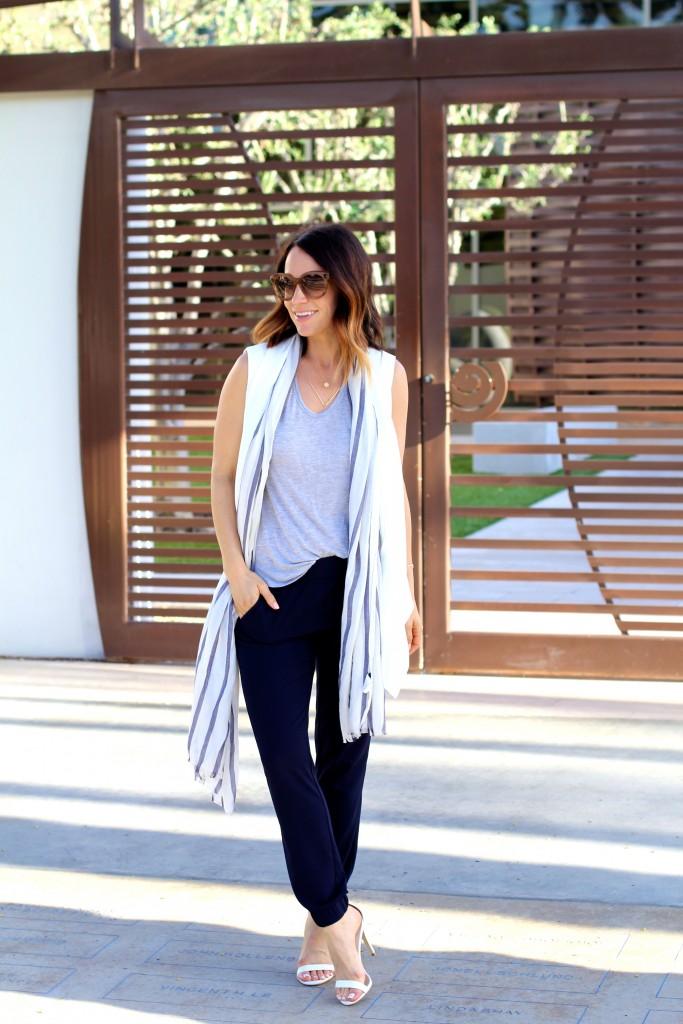 stripe scarf // slouchy pants // itsy bitsy indulgences