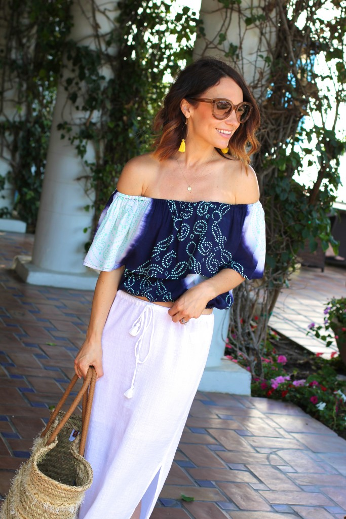coolchange crop top, summer outfit, itsy bitsy indulgences