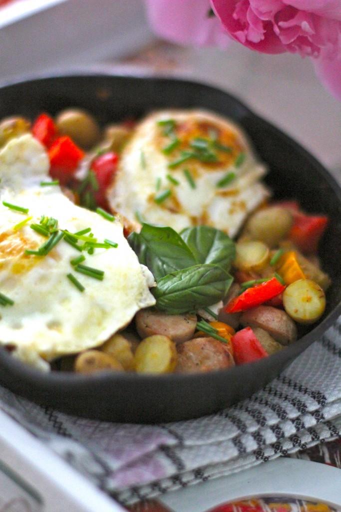 healthy breakfast skillet, itsy bitsy indulgences