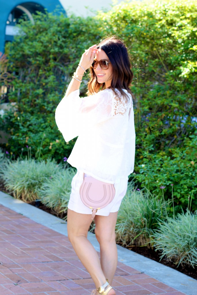 all white shorts outfit, itsy bitsy indulgences