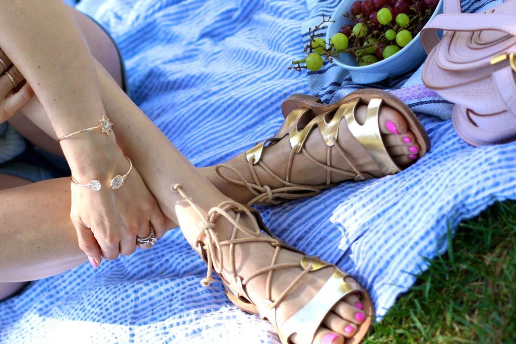 gladiator sandals, itsy bitsy indulgences