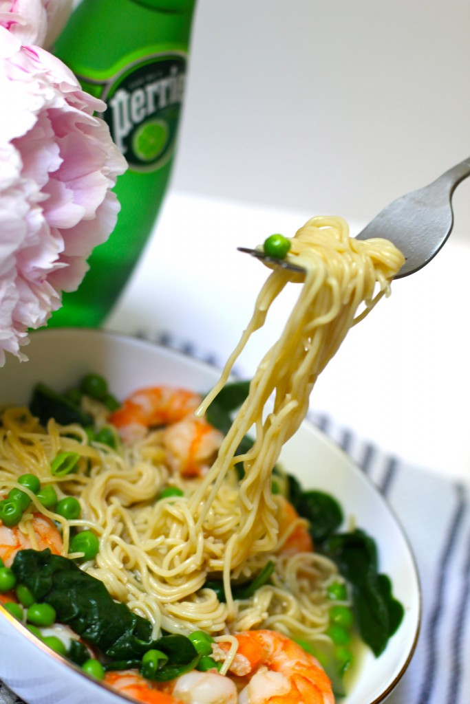 shrimp ramen soup, itsy bitsy indulgences