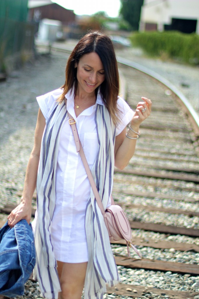 summer striped scarf, itsy bitsy indulgences