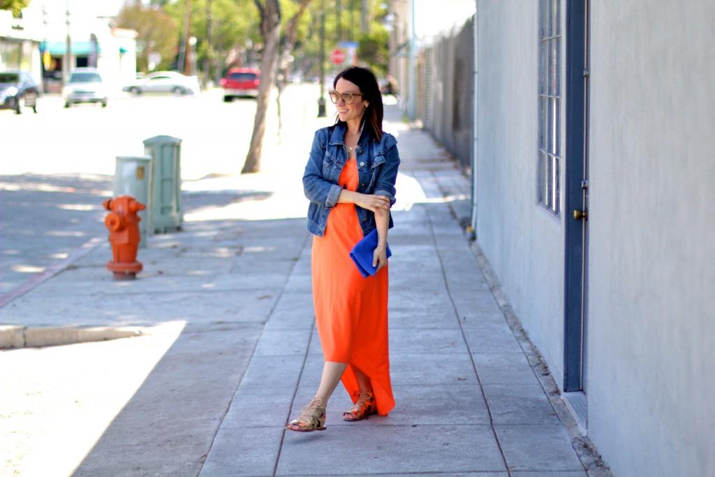 orange maxi dress, itsy bits indulgences