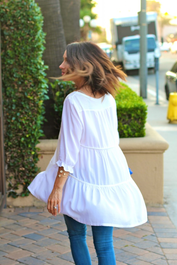 white summer blouse, itsy bitsy indulgences