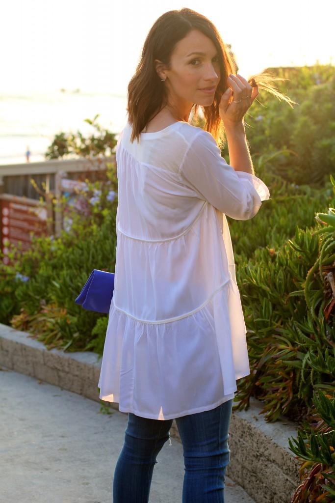 long white blouse, itsy bitsy indulgences