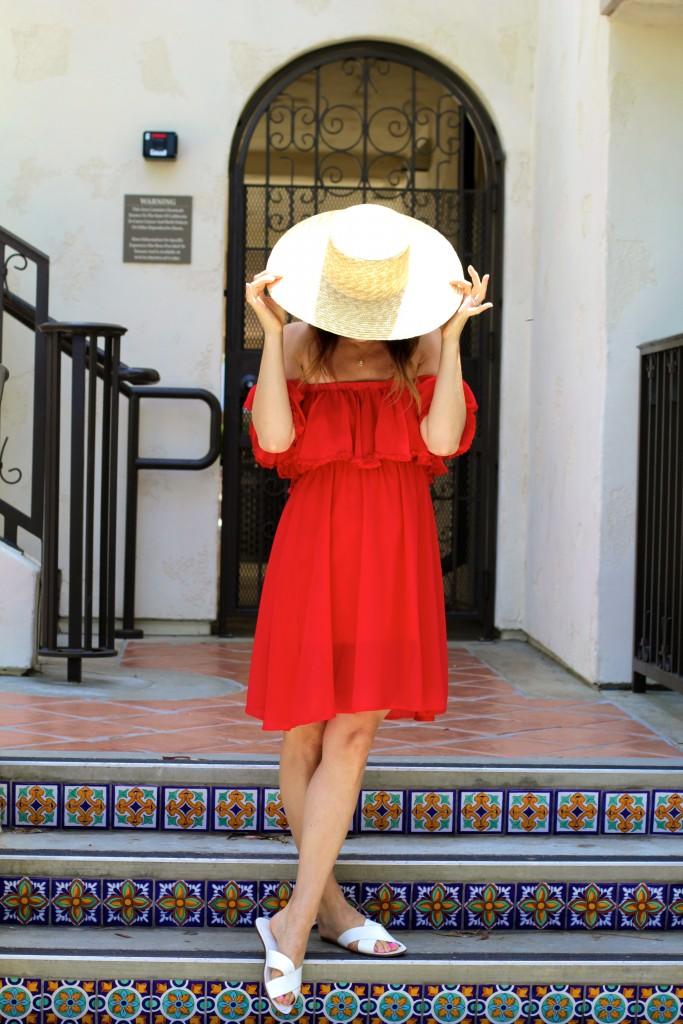red dress, itsy bitsy indulgences
