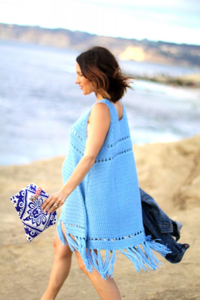 blue crochet dress, itsy bitsy indulgences