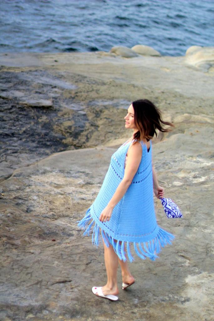 blue fringe dress, itsy bitsy indulgences