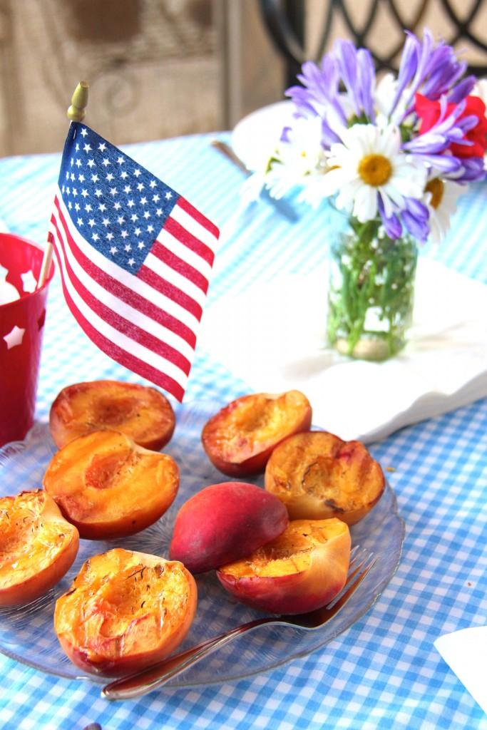 grilled peaches, itsy bitsy indulgences