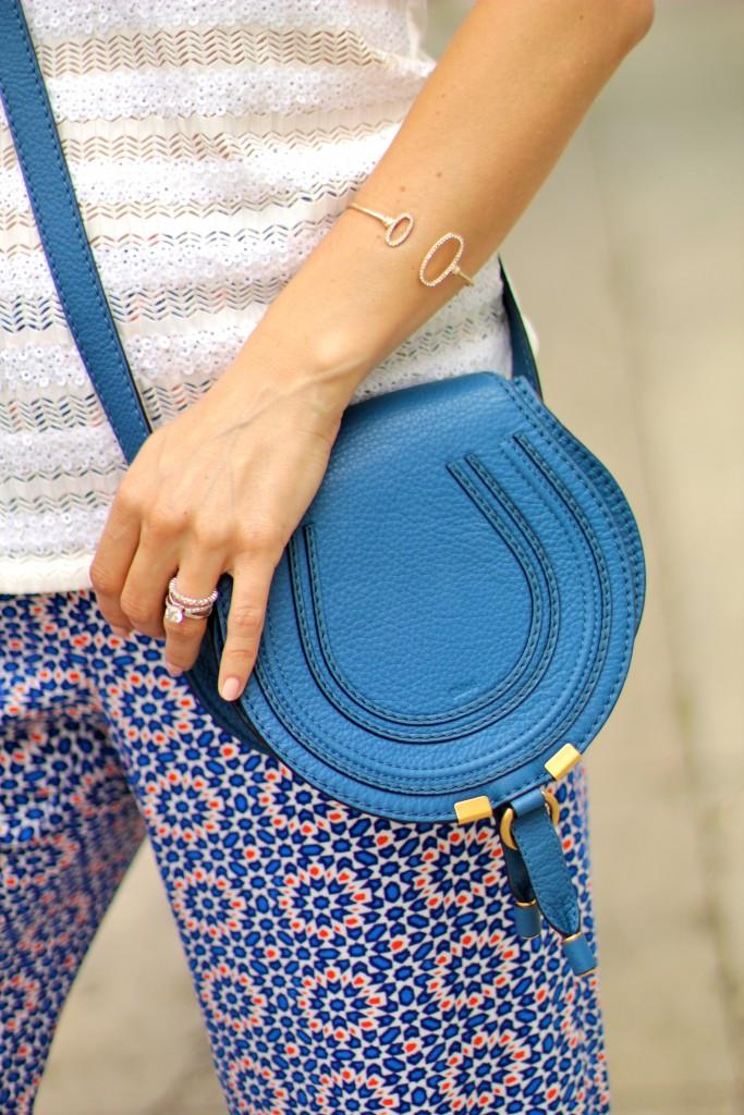 blue mini marcie chloe purse, itsy bitsy indulgences