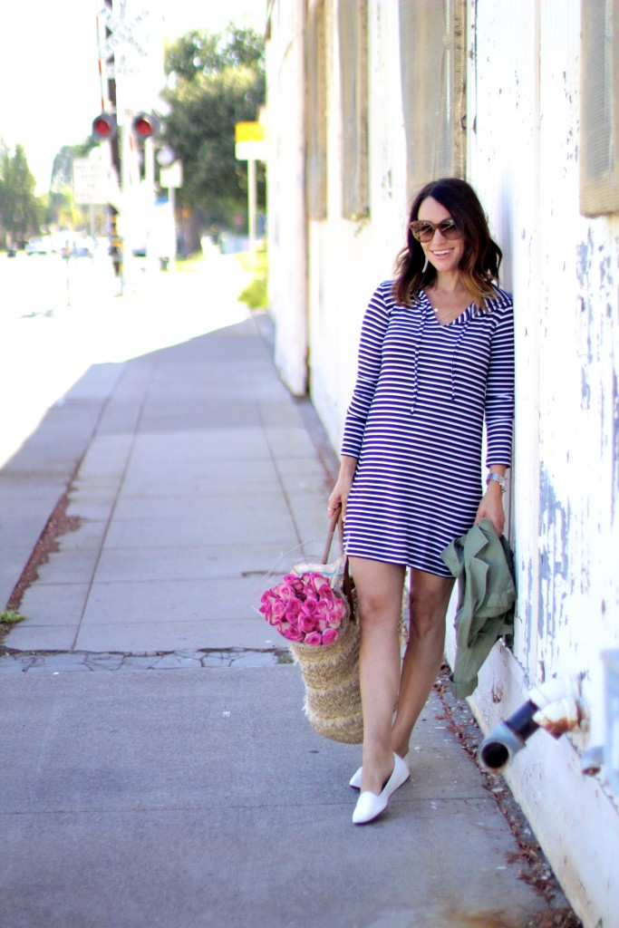 striped summer dress, itsy bitsy indulgences