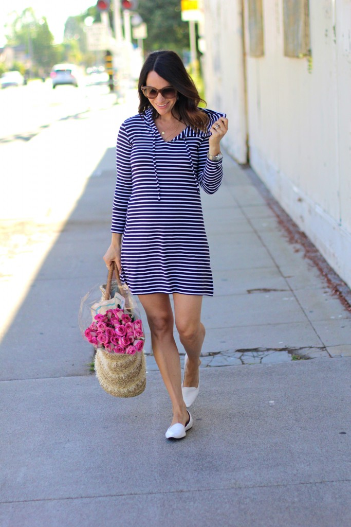 striped dress, itsy bitsy indulgences