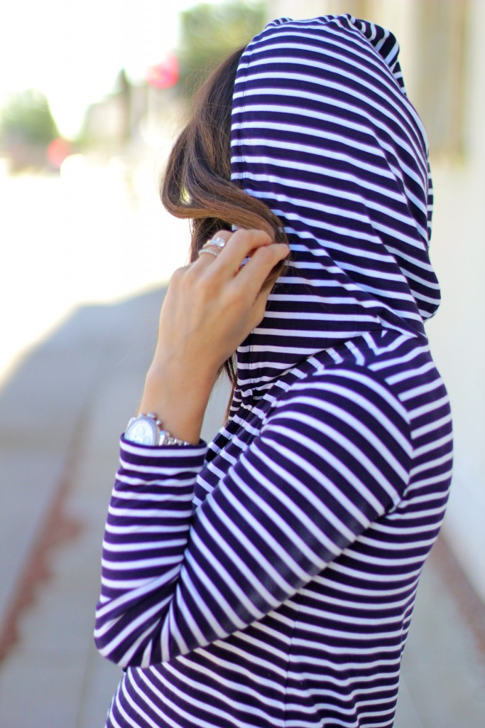 hooded dress, itsy bitsy indulgences
