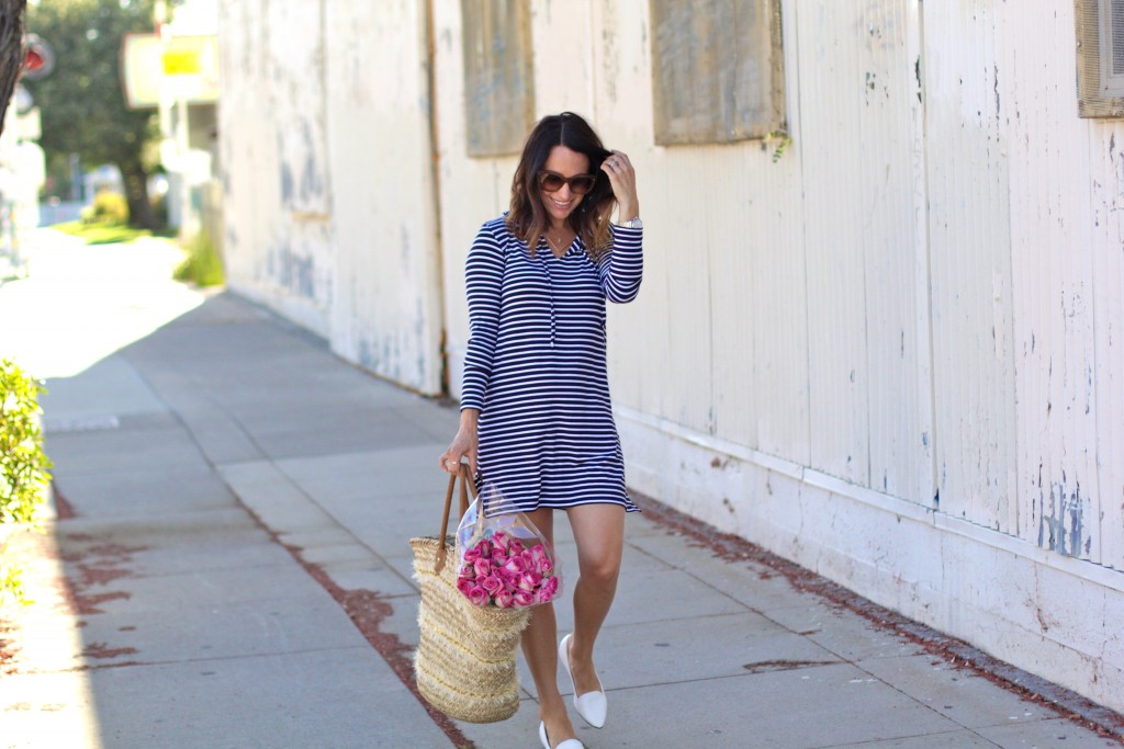 striped sun protection dress, itsy bitsy indulgences