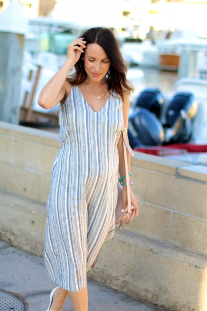 summer midi linen dress, itsy bitsy indulgences