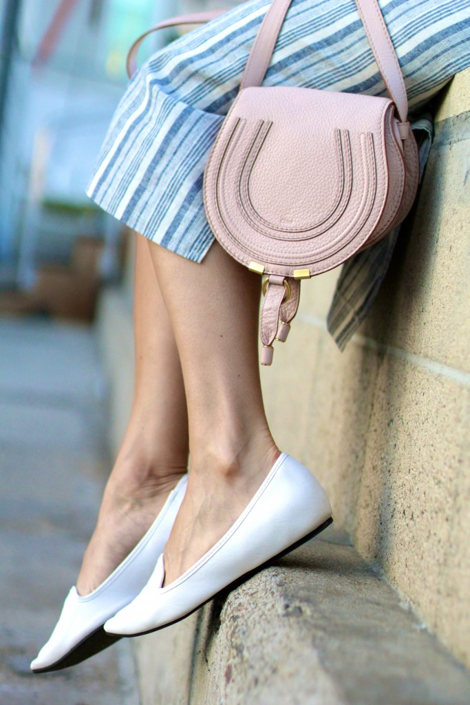 white loafers, chloe marcie bag, itsy bitsy indulgences