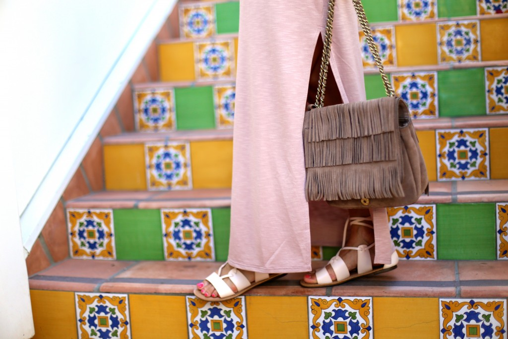 fringe purse, gladiator sandals, itsy bitsy indulgences