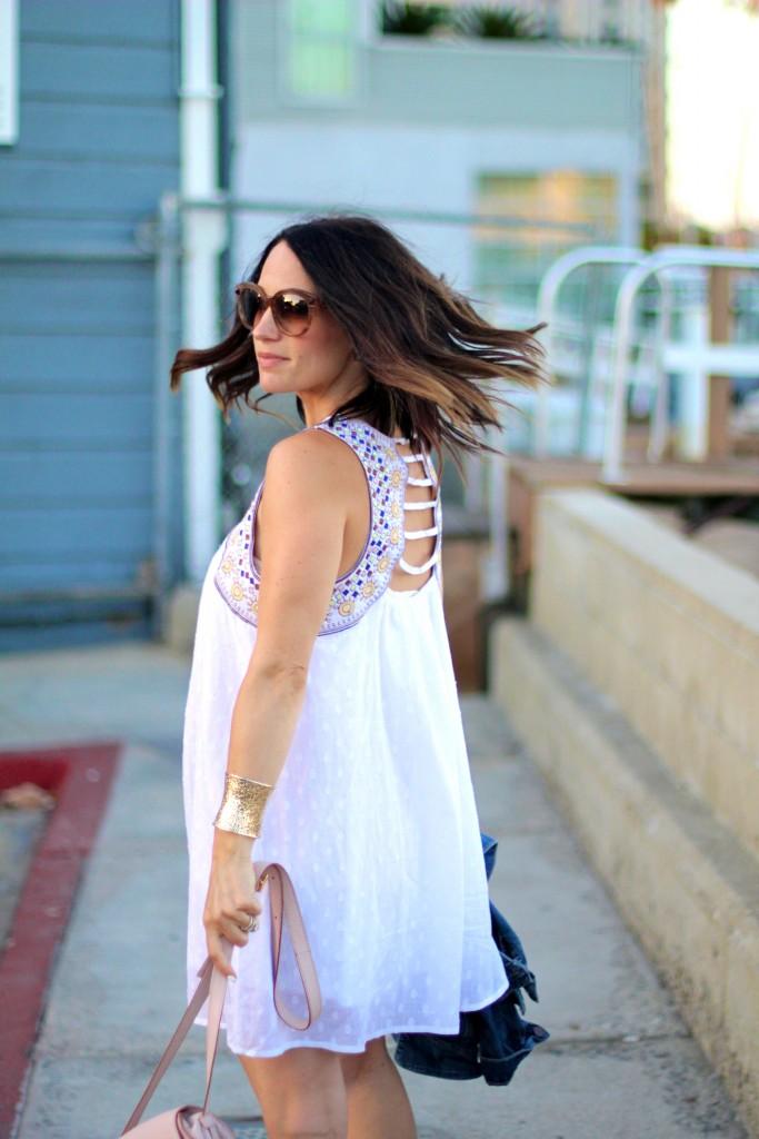 embroidered white dress, itsy bitsy indulgences